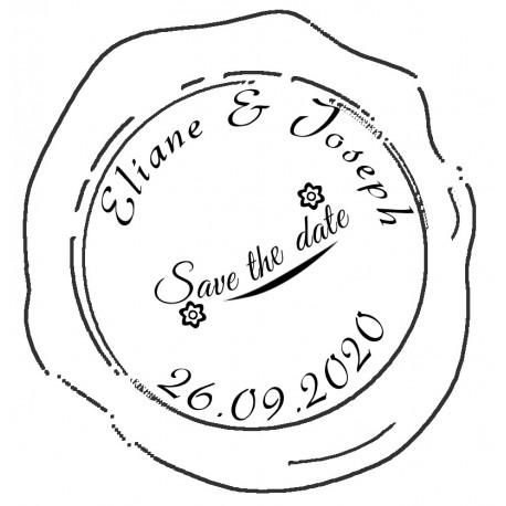 Tampon à cacheter la cire Save the date pour envoyer vos faire-part de mariage
