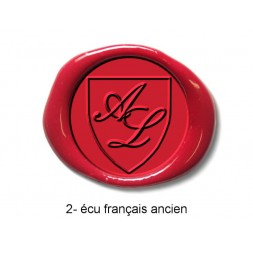 Tampon à cacheter initiales écu français ancien