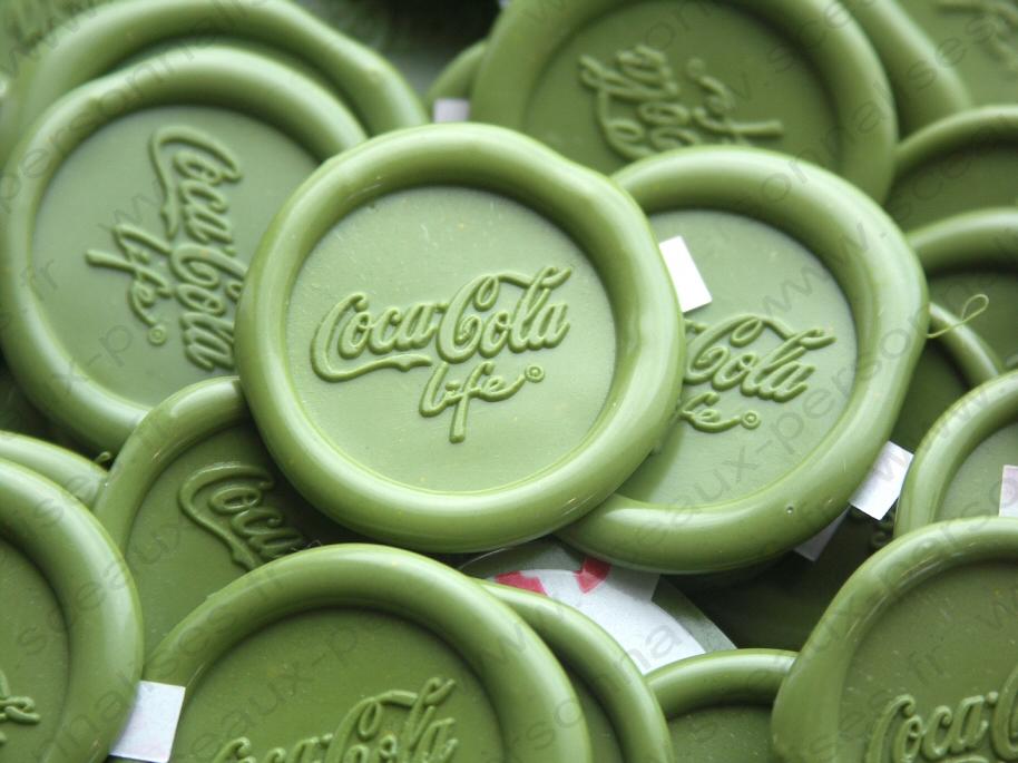 sceau coca-cola en cire
