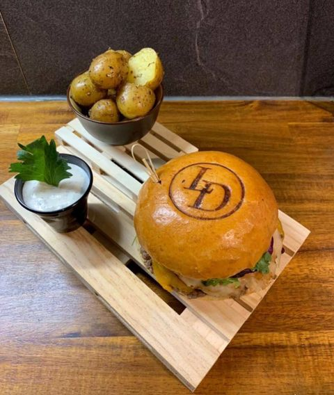 Marquage de pains à burger logo personnalisé