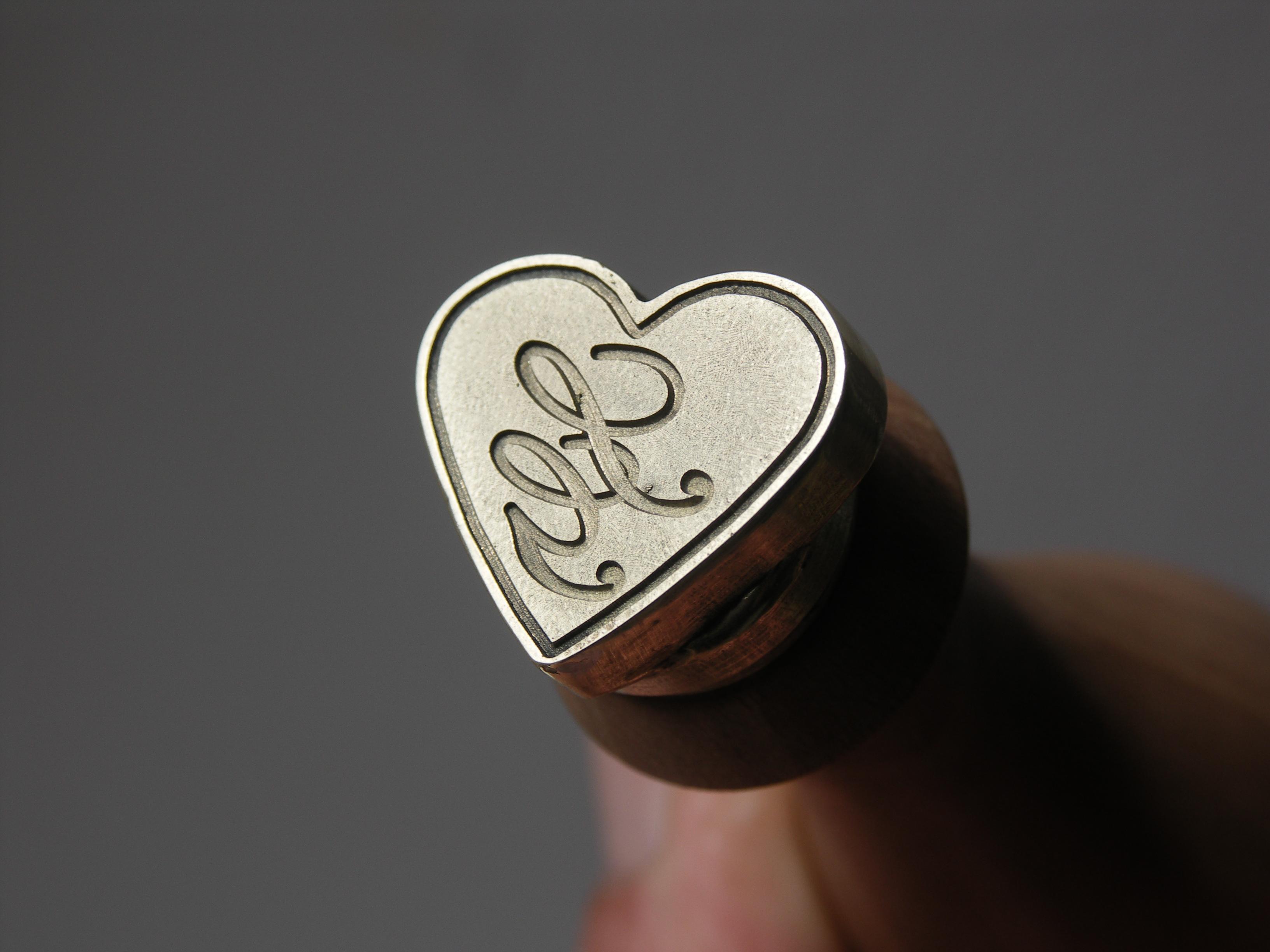 tampon à cire mariage coeur