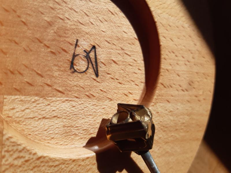 Fer à marquer tourneur sur bois