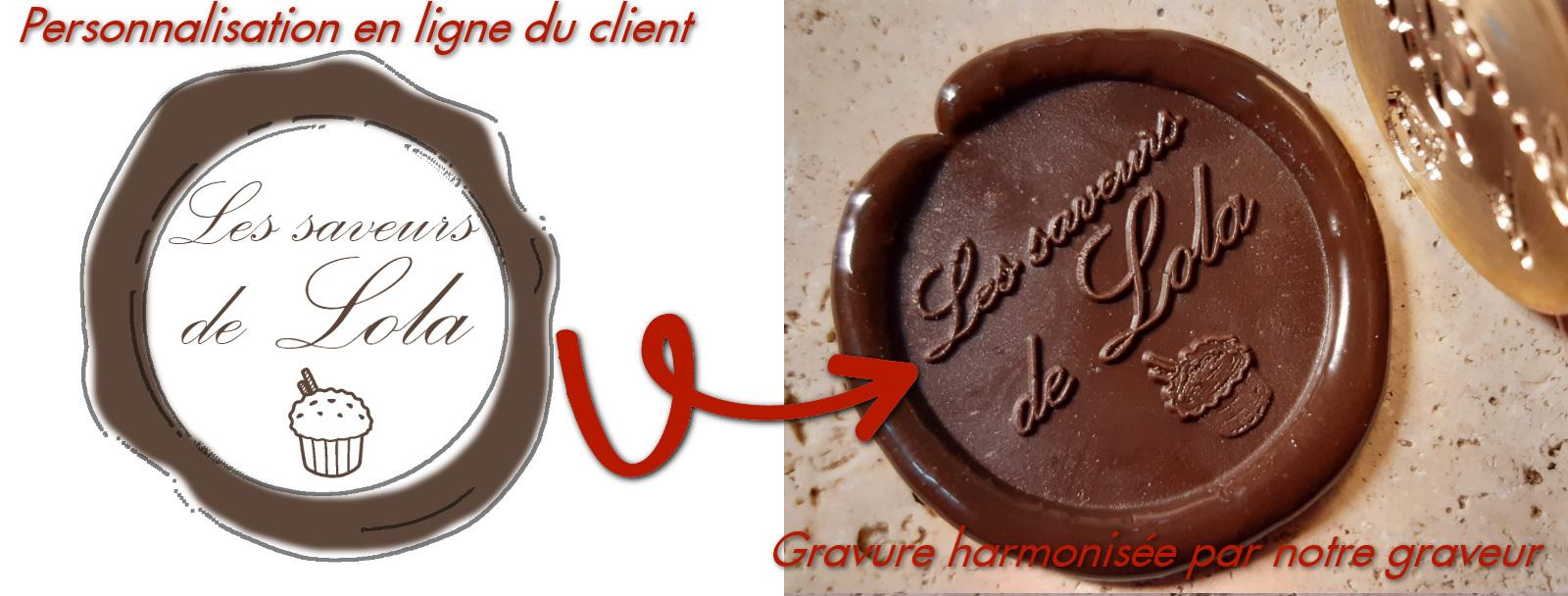 Personnalisation en ligne de votre tampon pour le chocolat